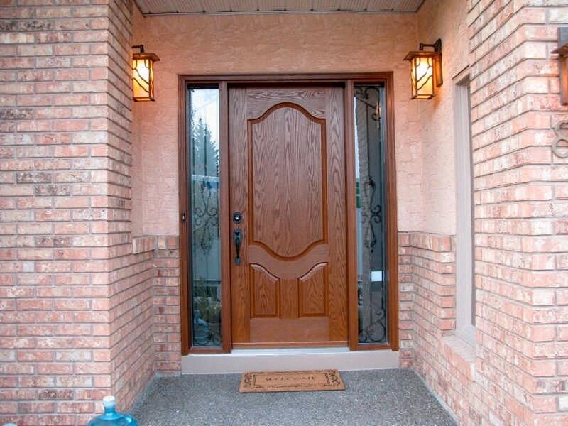 door doors double quarter insulated fiberglass swing entrance series fibertec with glass